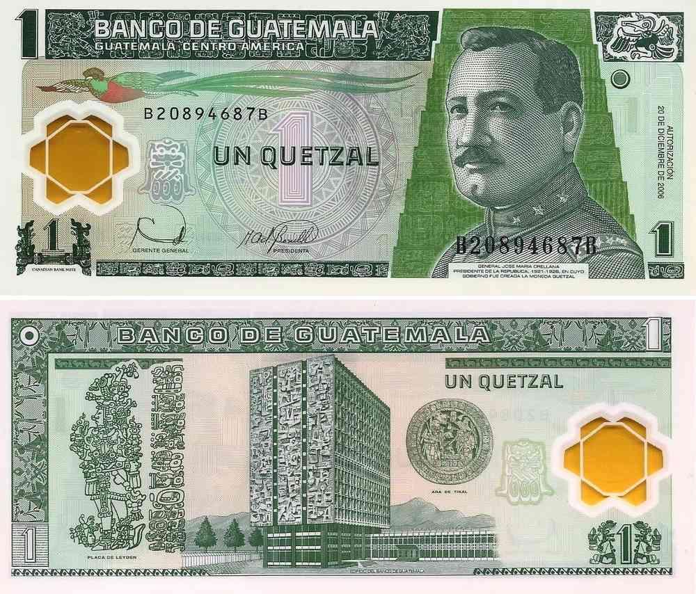 Guatemala 1 Quetzal 2006 109a