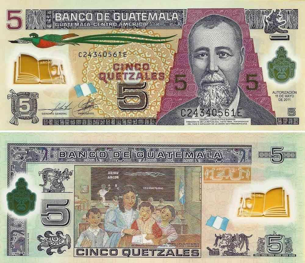 Guatemala 5 Quetzales 2017 122b