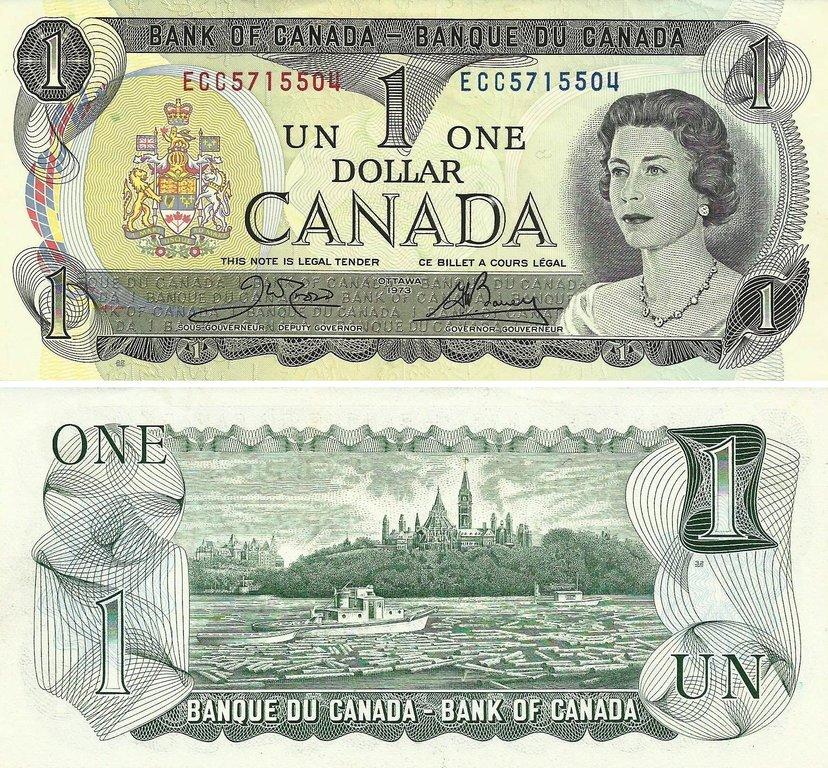 Canada 1 Dolar 1973 85a N V M S Billetes Y Monedas Cananses