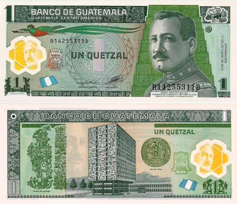 Guatemala 1 Quetzal 2017 121b