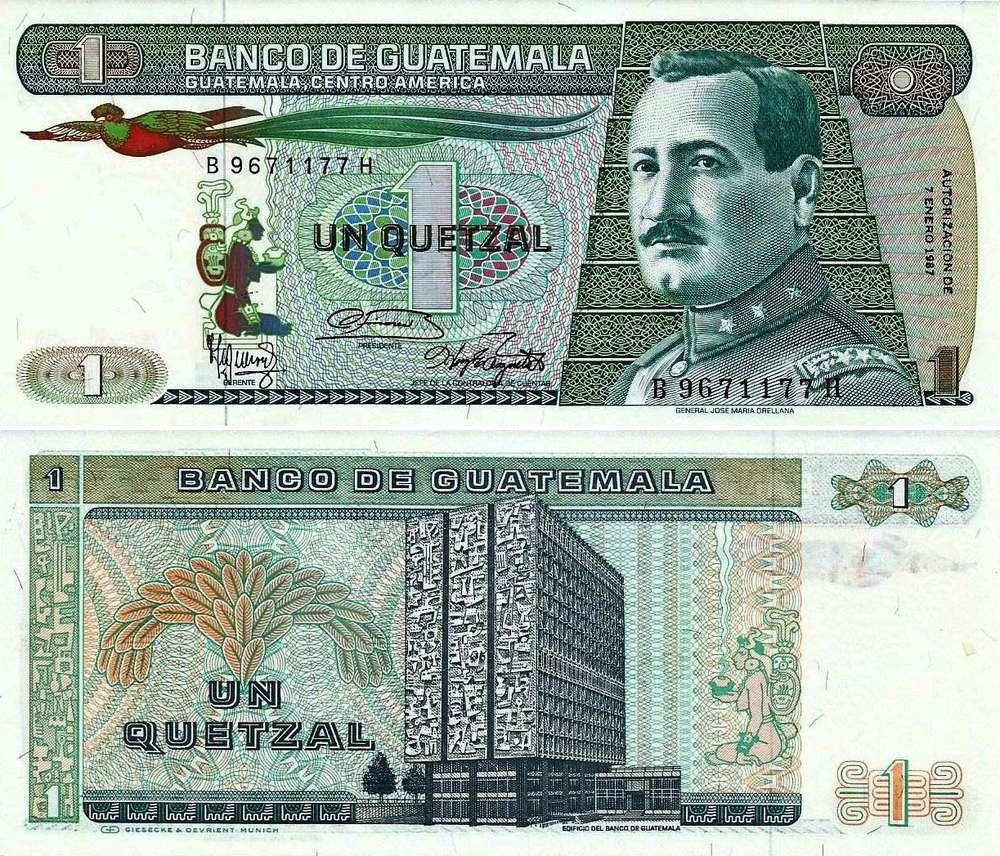 Guatemala 1 Quetzal 1987 66